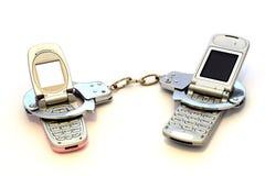 移动电话取决于您 库存照片