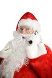 移动电话圣诞老人惊奇 库存照片