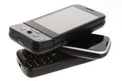移动电话堆 免版税库存照片