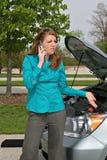 移动电话夫人年轻人 免版税库存图片