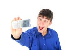 移动电话拍摄 免版税图库摄影