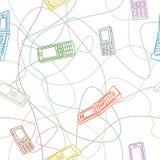 移动电话无缝的纹理 免版税库存照片
