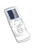 移动电话白色 库存图片
