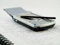 移动电话移动现代pda铁笔 图库摄影