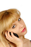 移动电话谈话 免版税库存照片