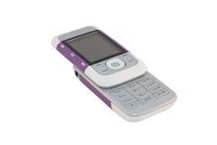 移动电话紫色 库存照片
