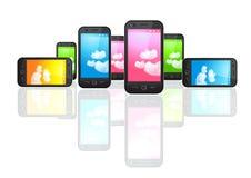 移动电话smartphones 免版税库存图片