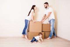 移动的家庭观念 库存图片