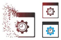 移动的映象点半音时钟配置齿轮日历页象 皇族释放例证