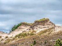 移动的沙丘形成- Slowinski国家公园,波兰 免版税库存照片