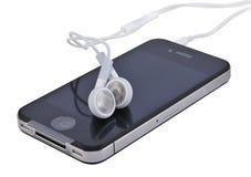 移动的耳机 免版税库存图片