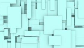 移动的长方形3D例证的例证 向量例证