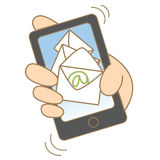移动邮寄的概念 免版税库存图片