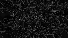 移动锋利的三角抽象空间  o 切开通过空间的黑暗的锋利的三角 残破的镜子空间  库存例证