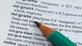 移居,在词汇量写的定义,搬到另一个地方,收容所劳方 股票录像