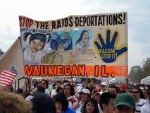 移民法律拒付符号 免版税库存照片