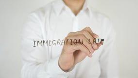 移民法律,写在玻璃 免版税库存照片