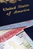 移民签证 免版税库存图片