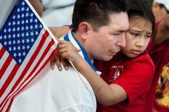 移民集会华盛顿 免版税库存照片