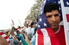 移民集会华盛顿 图库摄影