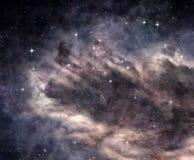 在外层空间的暗星云 免版税库存图片