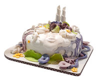 稀奇的蛋糕 免版税库存照片