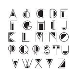 稀薄的线型,线性现代字体,在minimalistic样式做的字体 库存图片