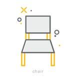 稀薄的线象,椅子 图库摄影