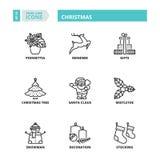 稀薄的线象 圣诞节 免版税库存图片