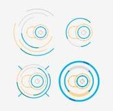 稀薄的线整洁的设计商标集合,照相机概念 免版税图库摄影