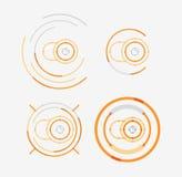 稀薄的线整洁的设计商标集合,照相机概念 免版税库存照片