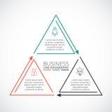 稀薄的线infographic的平的元素 库存图片