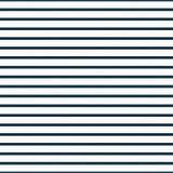 稀薄的藏青色和白色水平的镶边织地不很细织品后面 免版税库存照片