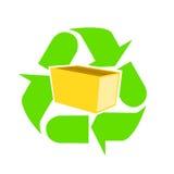 程序包纸张回收 向量例证