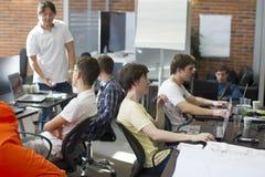 程序员在工作 免版税库存照片