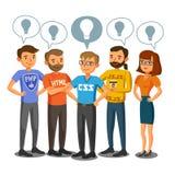 程序员,开发商,处理编制程序,配合 通信 库存例证