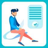 程序员,网设计师平的传染媒介例证 向量例证
