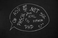 程序语言 免版税库存照片