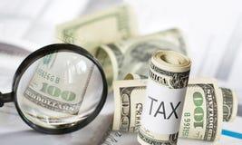 税、fiinance和金钱概念 图库摄影