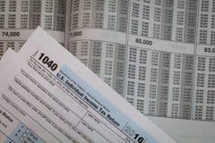 税准备形式和税表 免版税图库摄影