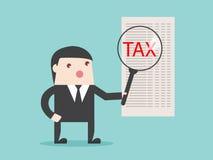 税分析扩大化财政焦点 免版税库存照片