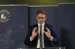 税和收支的卡斯滕LAURITZEN_MINISTER 免版税图库摄影