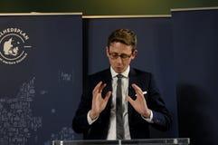 税和收支的卡斯滕LAURITZEN_MINISTER 免版税库存照片