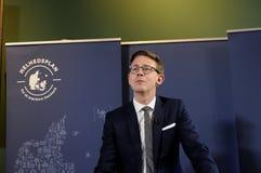 税和收支的卡斯滕LAURITZEN_MINISTER 库存图片