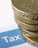 税和英镑 库存图片