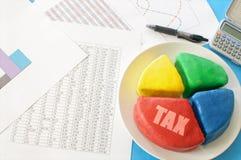 税圆形统计图表 库存照片