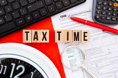 税定期的美国 库存图片
