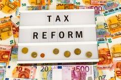税收改革 库存照片