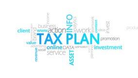税收计划,生气蓬勃的印刷术 向量例证
