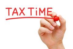 税时间红色标志 图库摄影
